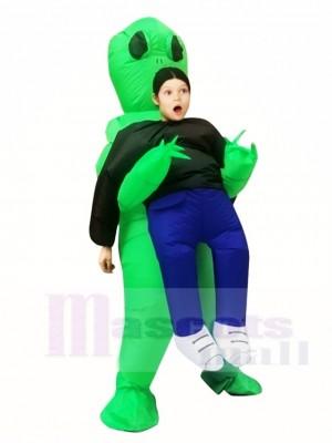 Green Alien ET Traje inflable