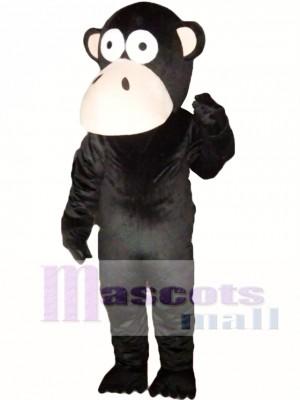 Mono negro Disfraz de mascota