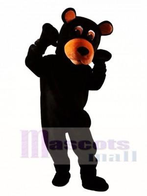 Oso negro gracioso Disfraz de mascota