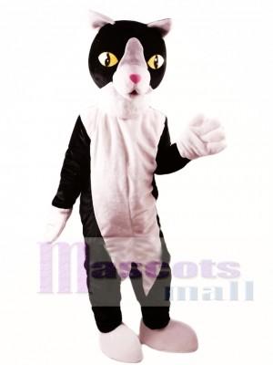 Gato blanco y negro Disfraz de mascota