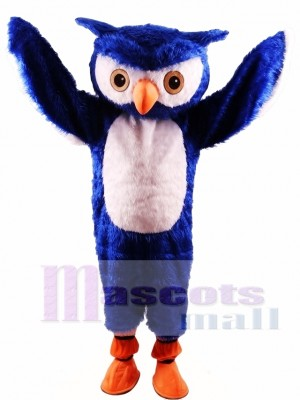 Búho azul Disfraz de mascota