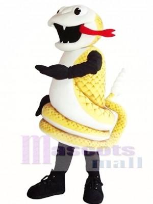 Serpiente Cobra Dorada Disfraz de mascota