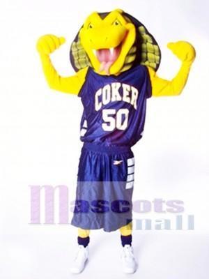 Serpiente Cobra Amarilla Deportiva Disfraz de mascota