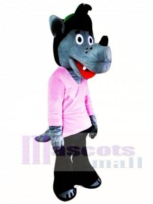 Lobo de dibujos animados Disfraz de mascota