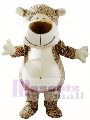 Leopardo de dibujos animados lindo Disfraz de mascota
