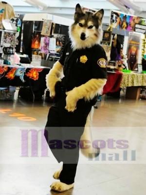 Lobo policía de alta calidad Disfraz de mascota