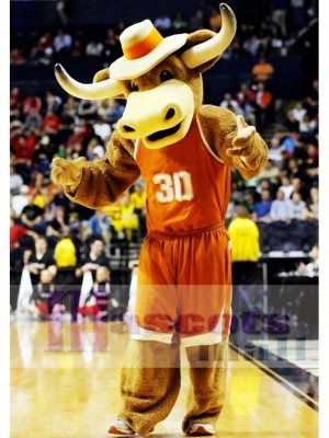 Texas Longhorns Hook Em Sporty Bull Disfraz de mascota