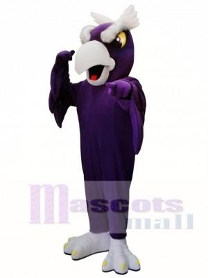 Pájaro águila púrpura Disfraz de mascota
