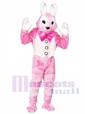 Conejito de Pascua rosa para adulto Disfraz de mascota