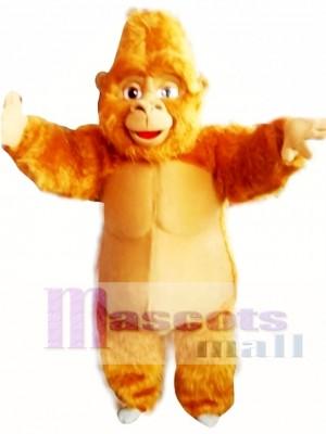 Gorila marrón Disfraz de mascota