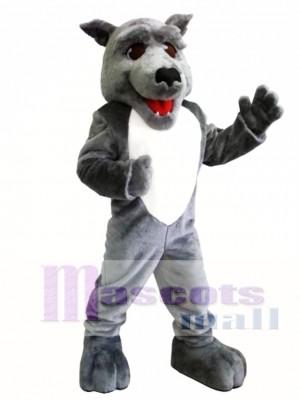 Lindo lobo gris Disfraz de mascota