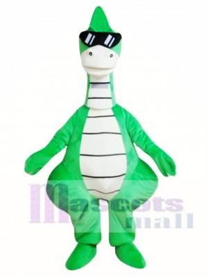 Dinosaurio verde fresco Disfraz de mascota
