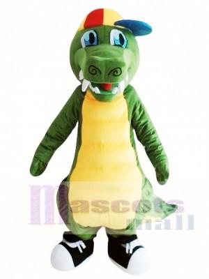Dinosaurio verde adulto Disfraz de mascota