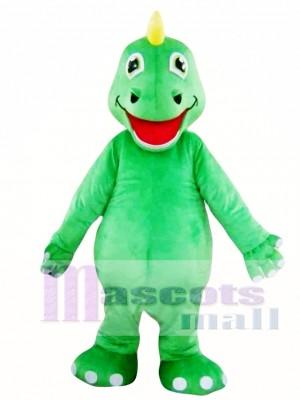 Dinosaurio adulto verde Disfraz de mascota