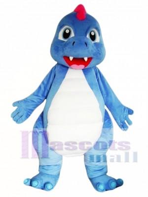 Dinosaurio azul Disfraz de mascota