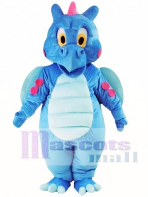 Dragón azul lindo Disfraz de mascota