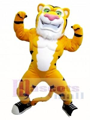 Tigre musculoso poderoso Disfraz de mascota