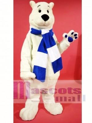 Lindo oso polar ventoso Disfraz de mascota