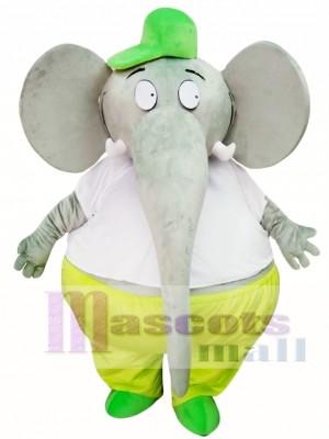 Elefante gris gordo grande Disfraz de mascota