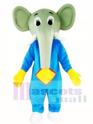 Elefante de cuerpo azul Disfraz de mascota