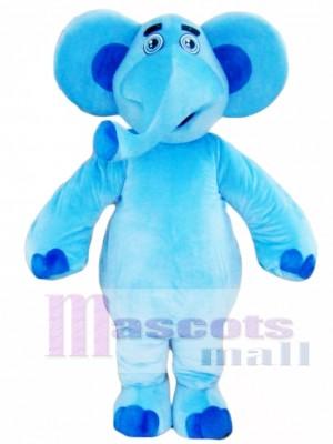 Elefante azul Disfraz de mascota