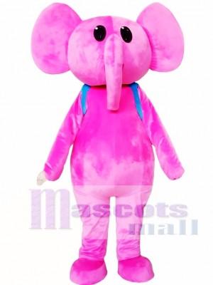 Elefante rosado adulto Disfraz de mascota