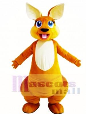 Canguro adulto feliz Disfraz de mascota