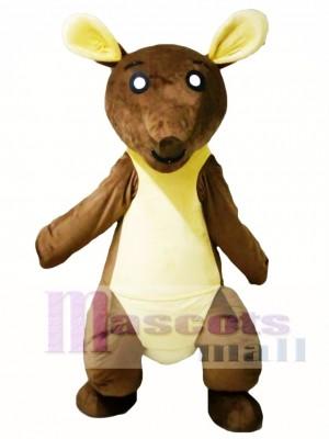 Canguro marrón y amarillo Disfraz de mascota