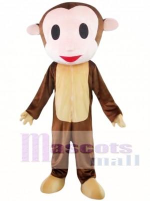 Mono cabeza grande Disfraz de mascota
