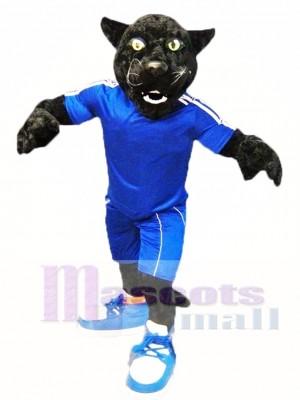 Pantera deportiva negra Disfraz de mascota