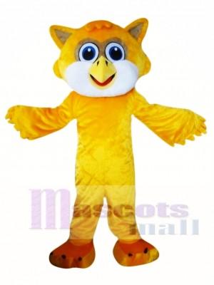 Búho amarillo Disfraz de mascota