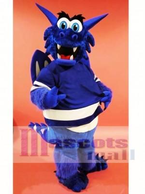 Dragón azul feliz Disfraz de mascota