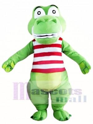 Cocodrilo verde lindo Disfraz de mascota