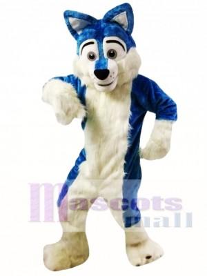 Fursuit de lobo azul Disfraz de mascota