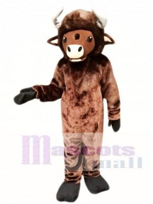 Búfalo marrón Disfraz de mascota
