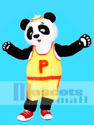 Camiseta amarilla Panda Disfraz de mascota