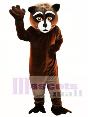 Mapache marrón Disfraz de mascota