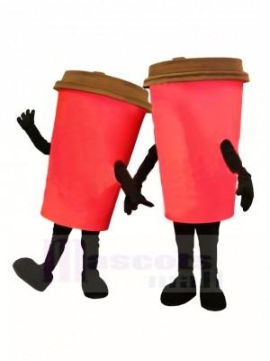 Taza de café roja Disfraz de mascota