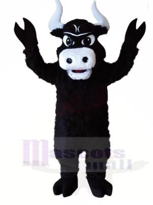 Toro negro fuerte Disfraz de mascota