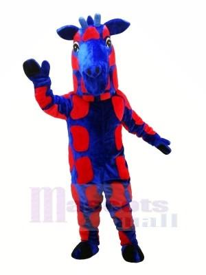 Jirafa azul y roja Disfraz de mascota