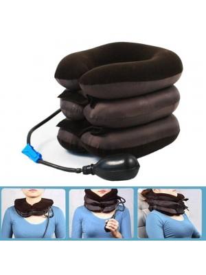 Almohada de viaje inflable en forma de U