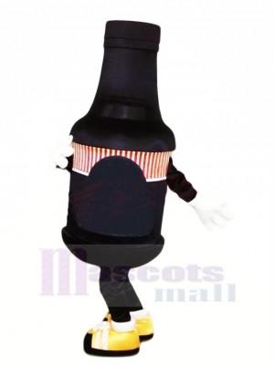 Botella negra divertida Disfraz de mascota