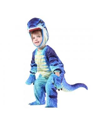 Mono azul T-Rex para niño