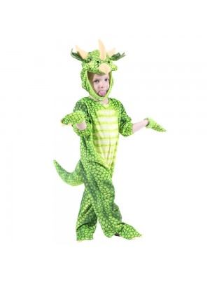 Mono Triceratops verde para niño
