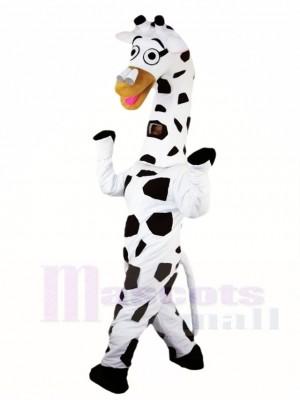Jirafa blanca Disfraz de mascota