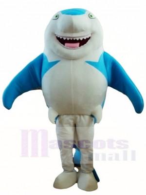 Lindo tiburón azul sonrisa Disfraz de mascota