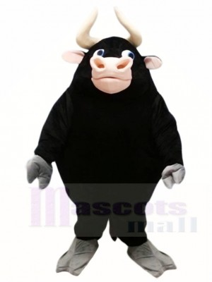 Lindo toro negro Disfraz de mascota