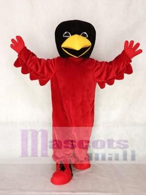 Cabeza negra de pájaro rojo Disfraz de mascota animal