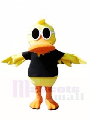 Pato amarillo con gafas de sol Disfraz de mascota