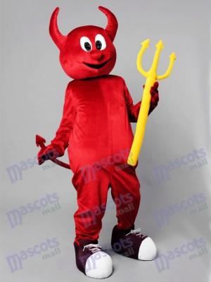 Diablo malvado rojo de halloween Disfraz de mascota